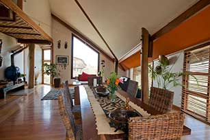Interior Bungalow with view